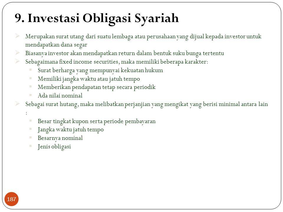 Investasi Reksadana Syariah (Lanjutan)  Pengelolaan dilakukan oleh perusahaan yang telah mendapatkan ijin Bapepam sebagai manajer investasi. Perusaha