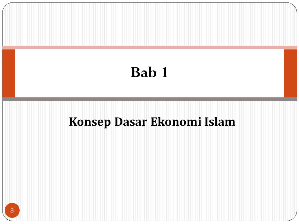 Daftar Isi 1. Konsep Dasar Ekonomi Islam 2. Karakteristik dan Rancang Bangun Sistem Ekonomi Islam 3. Sejarah Pemikiran Ekonomi Islam 4. Teori Produksi