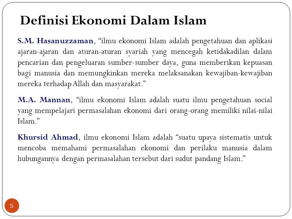 Definisi Ekonomi Dalam Islam S.M.