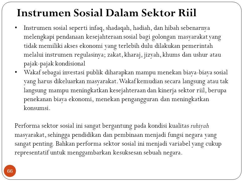 Pelarangan Riba Dalam Sektor Riil Absensi Riba dalam perekonomian (sektor riil) mencegah penumpukan harta (money concentration) pada sekelompok orang,