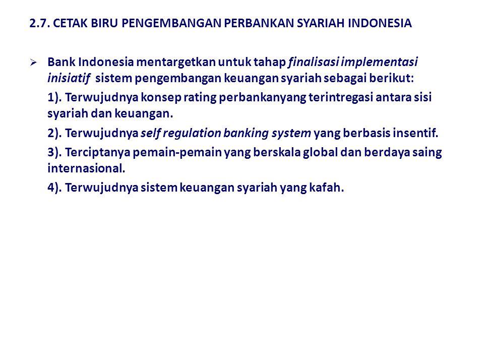 2.7. CETAK BIRU PENGEMBANGAN PERBANKAN SYARIAH INDONESIA  Berikut adalah sasaran pengembangan perbankan syariah sampai tahun 2011 yang digariskan dal