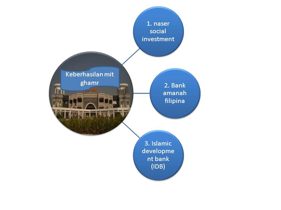 1.naser social investment 2. Bank amanah filipina 3.