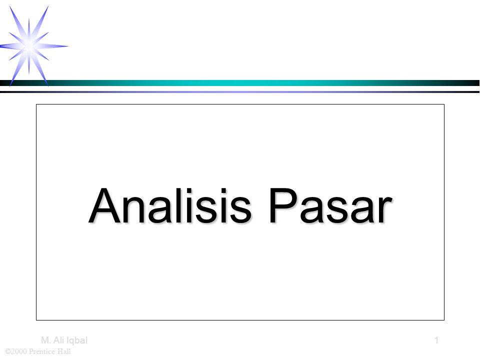 ©2000 Prentice Hall M. Ali Iqbal1 Analisis Pasar