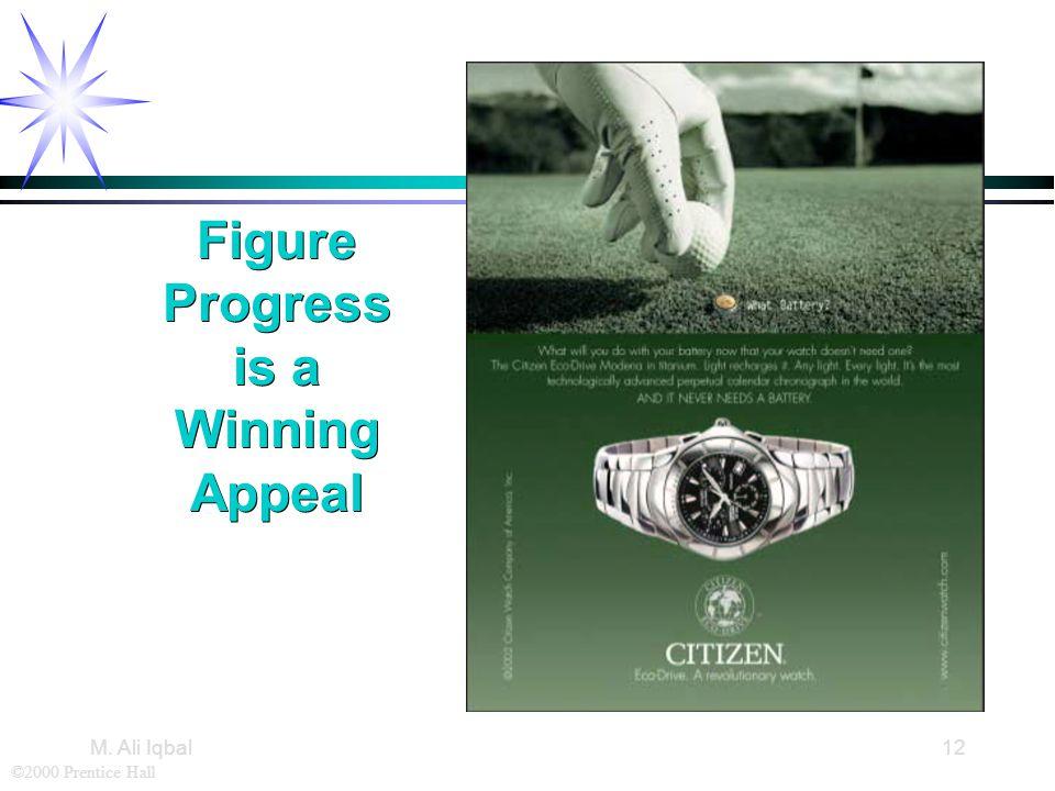 ©2000 Prentice Hall M. Ali Iqbal12 Figure Progress is a Winning Appeal