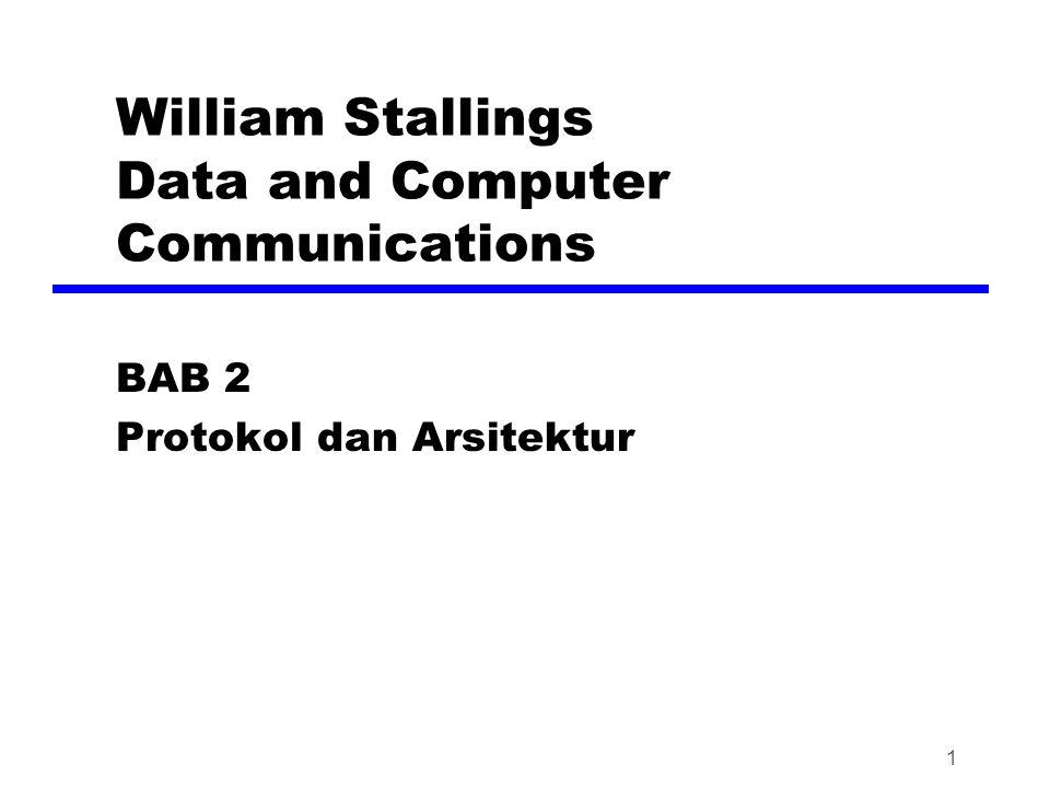 1 William Stallings Data and Computer Communications BAB 2 Protokol dan Arsitektur