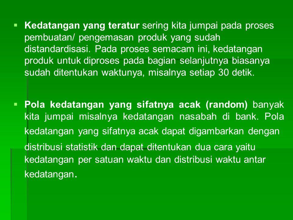 Perilaku kedatangan   Ada tiga jenis perilaku : a.