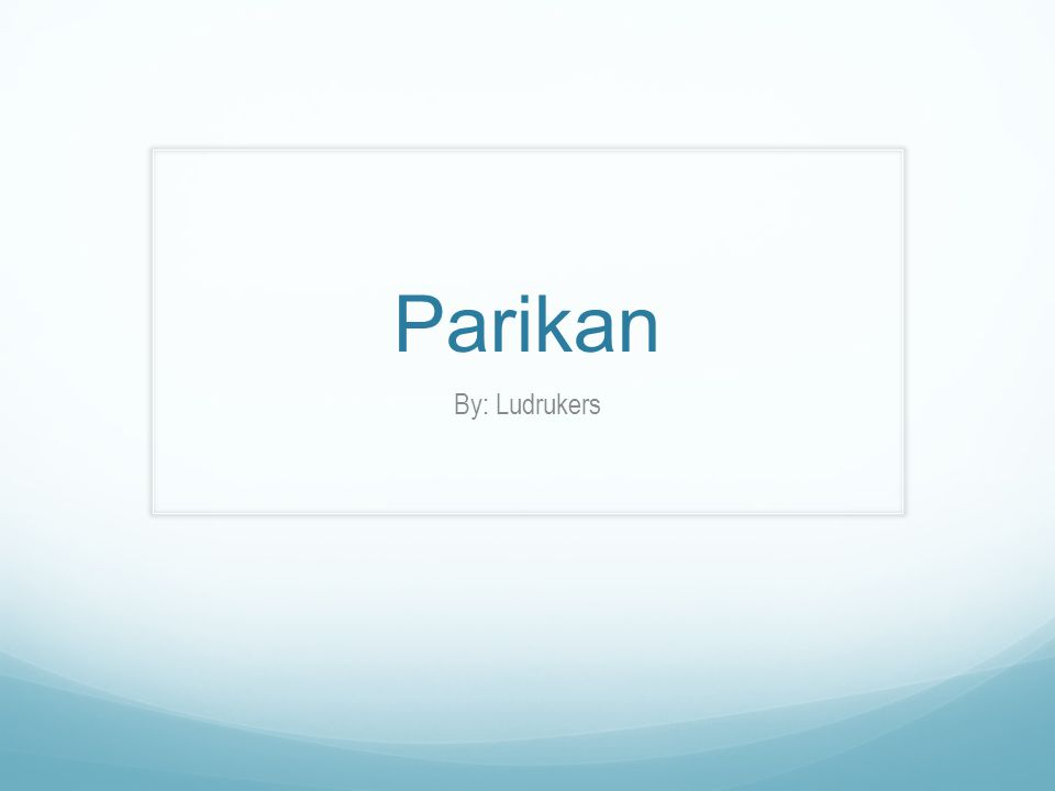 Parikan By: Ludrukers