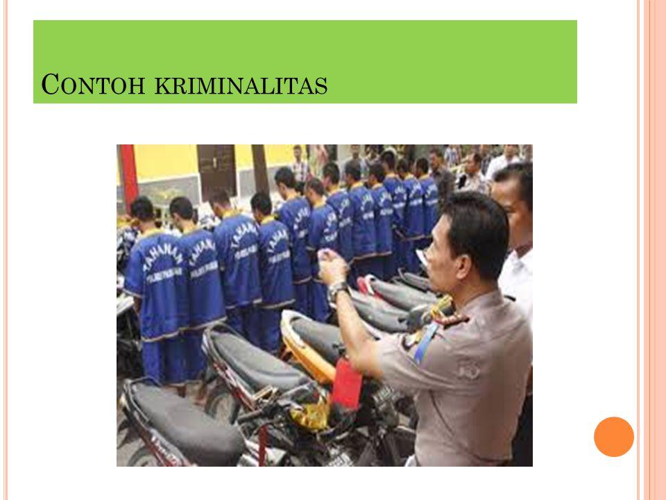 C ONTOH KRIMINALITAS