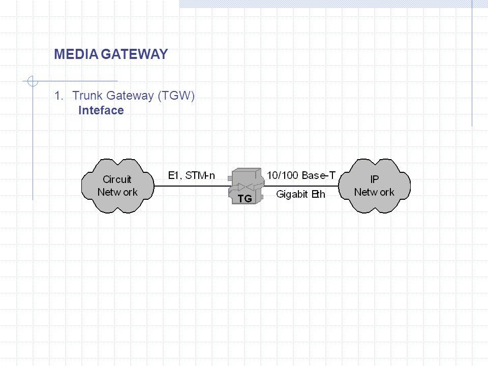 MEDIA GATEWAY 1.Trunk Gateway (TGW) Inteface