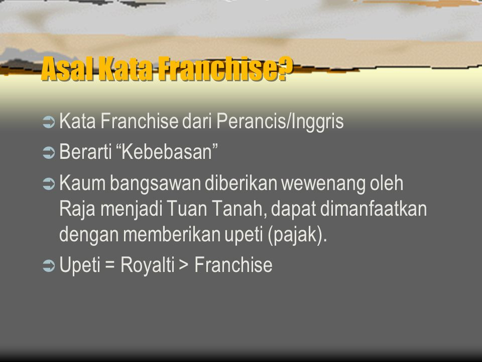What is a franchise.