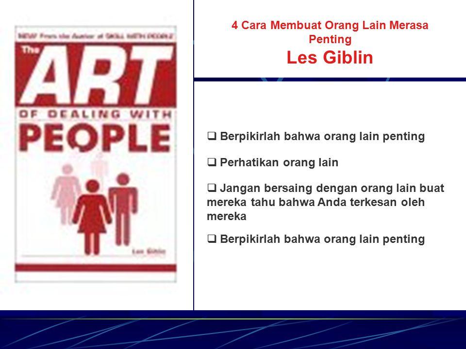 The Art of Listening Les Giblin  Condongkanlah badan ke arah orang itu  Pandanglah orang yang sedang berbicara  Tunjukkanlah minat yang mendalam 
