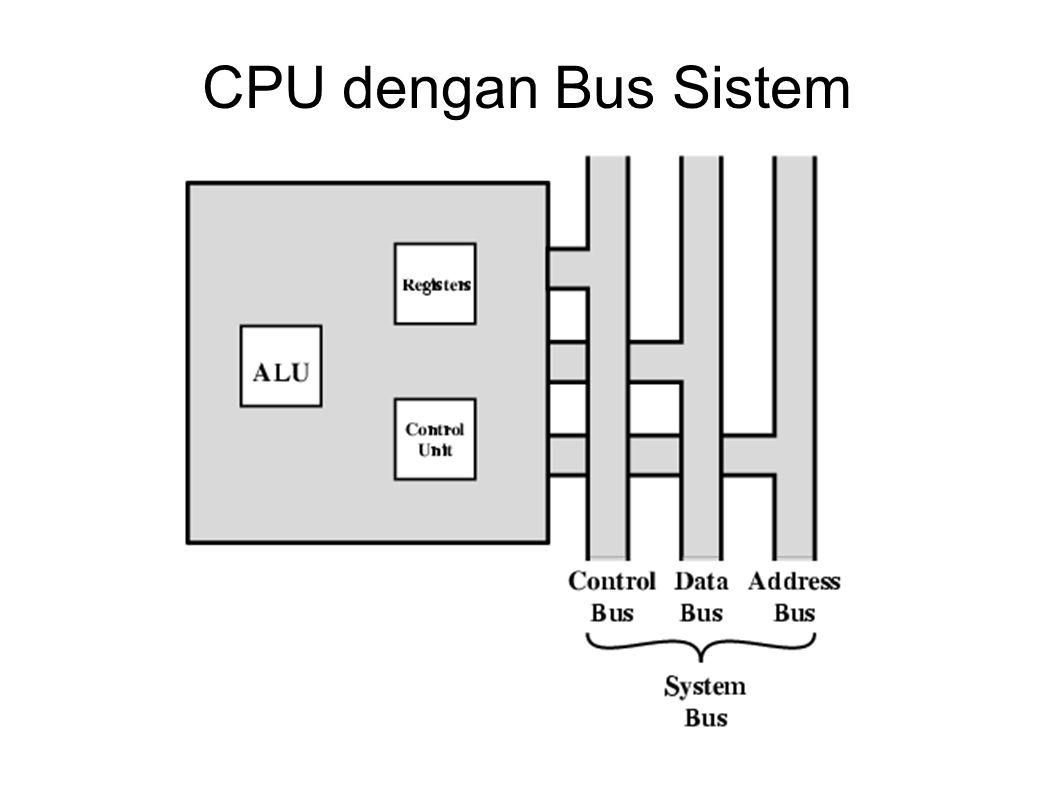 CPU dengan Bus Sistem