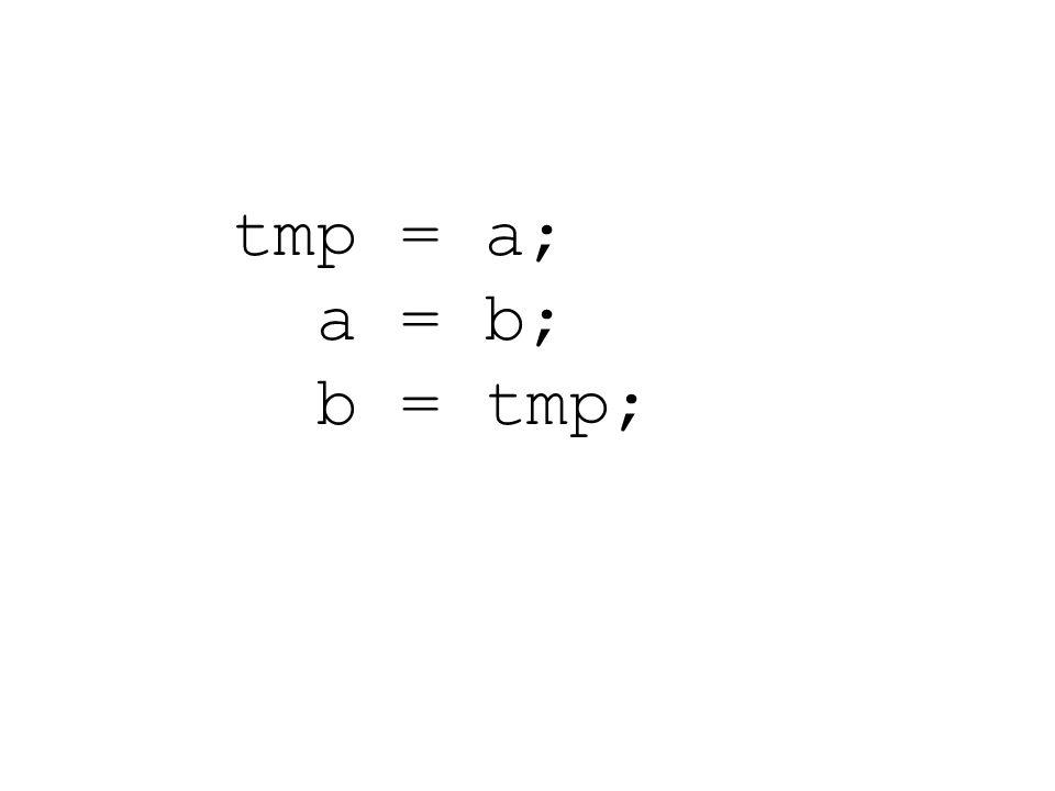 tmp = a; a = b; b = tmp;