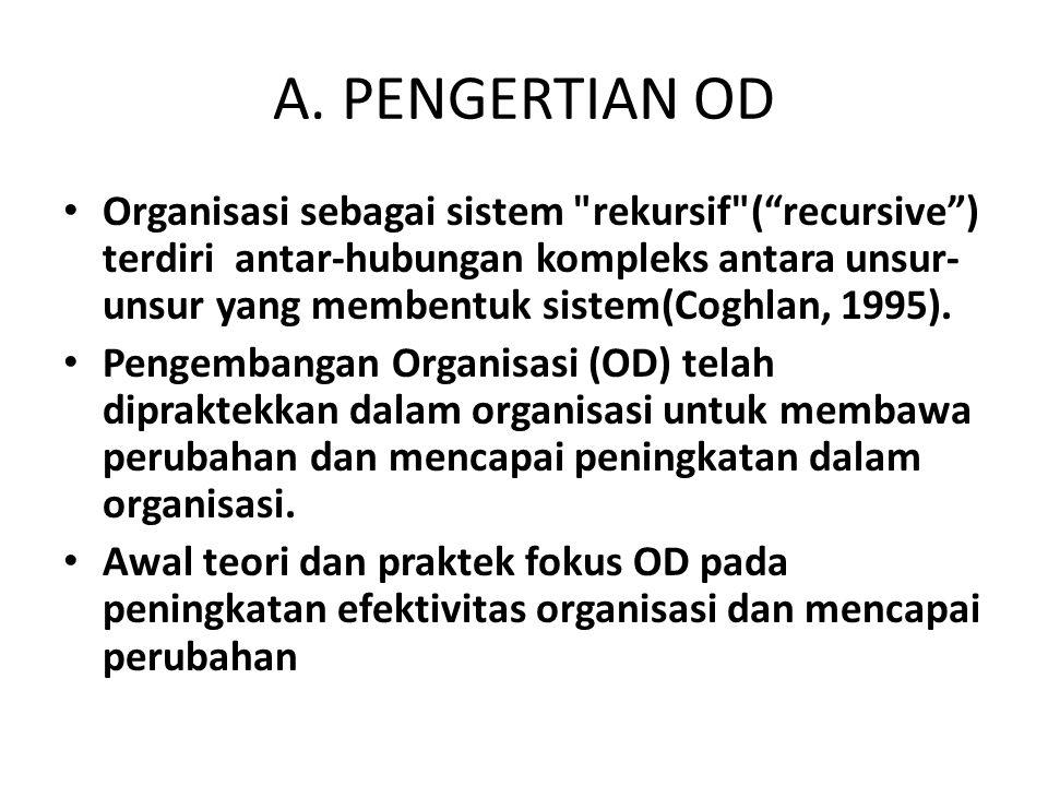 A. PENGERTIAN OD Organisasi sebagai sistem