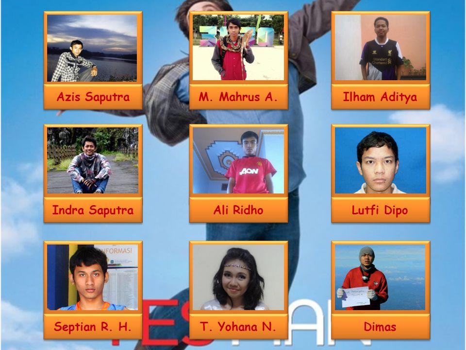 M. Mahrus A. Ali Ridho T. Yohana N. Ilham Aditya Dimas Lutfi Dipo Azis Saputra Indra Saputra Septian R. H.