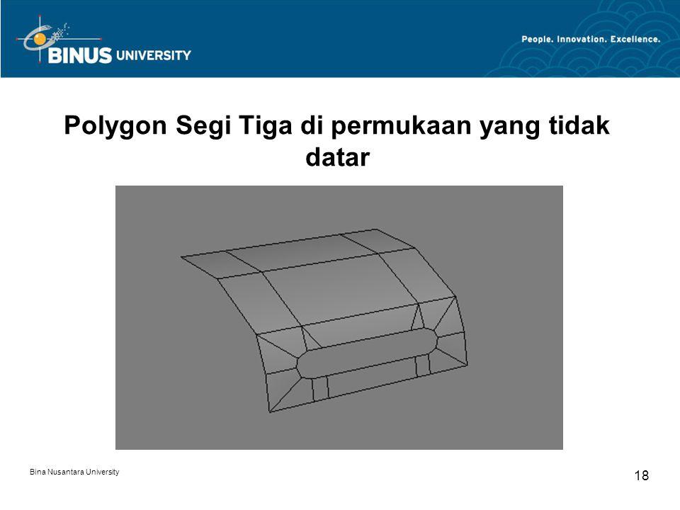 Bina Nusantara University 18 Polygon Segi Tiga di permukaan yang tidak datar