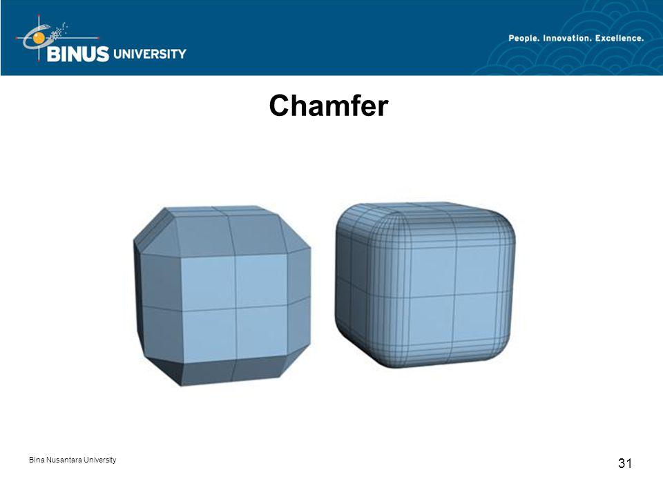 Bina Nusantara University 31 Chamfer