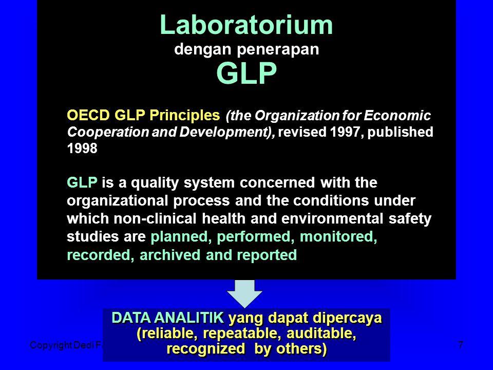 Copyright Dedi FardiazJakarta, 06 Sept 20078 X  ( True Value ) Target Pengujian Accuracy Precision Bagaimana meningkatkan kualitas data analitik?