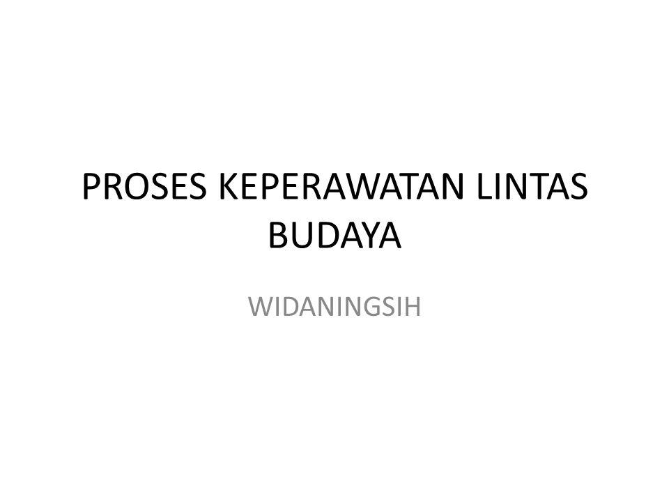 PROSES KEPERAWATAN LINTAS BUDAYA WIDANINGSIH
