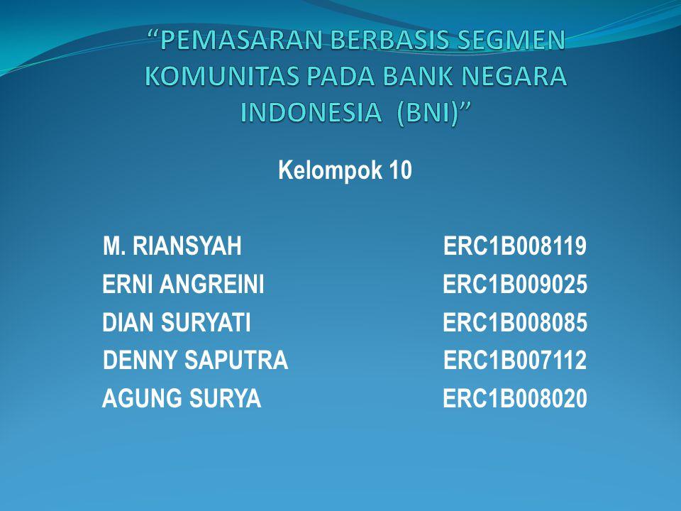 Kelompok 10 M. RIANSYAHERC1B008119 ERNI ANGREINIERC1B009025 DIAN SURYATIERC1B008085 DENNY SAPUTRAERC1B007112 AGUNG SURYAERC1B008020