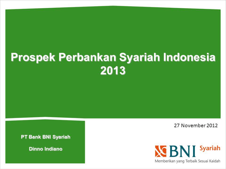 27 November 2012 Prospek Perbankan Syariah Indonesia 2013 PT Bank BNI Syariah Dinno Indiano