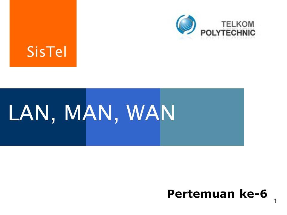 SisTel 1 LAN, MAN, WAN Pertemuan ke-6
