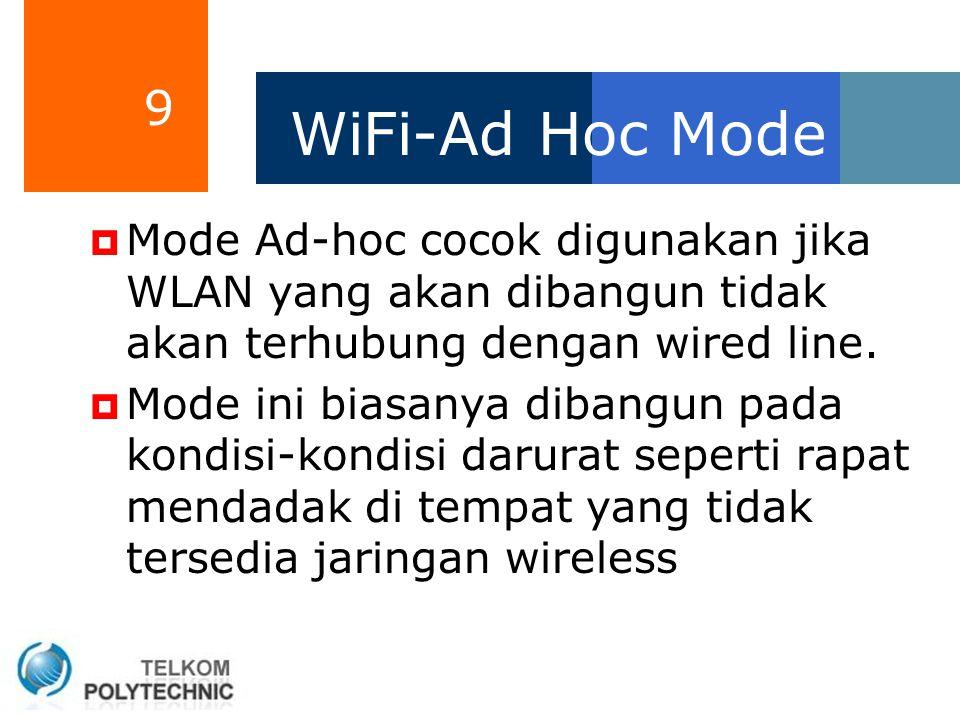 20 WiMAX (802.16)  Akses komunikasi data pada WLAN menggunakan standart IEEE 802.11, dan biasa disebut WiFi.