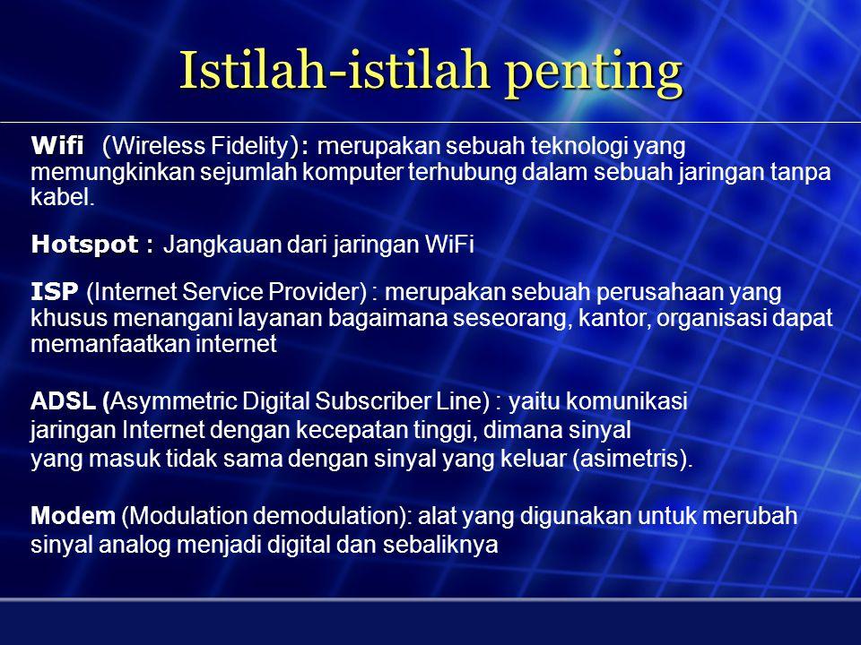 Akses Internet Hotspot 2 Internet Service Provider (ISP) Komputer 1Komputer 2Komputer 3 External Antenna External Antenna Wifi Access Point