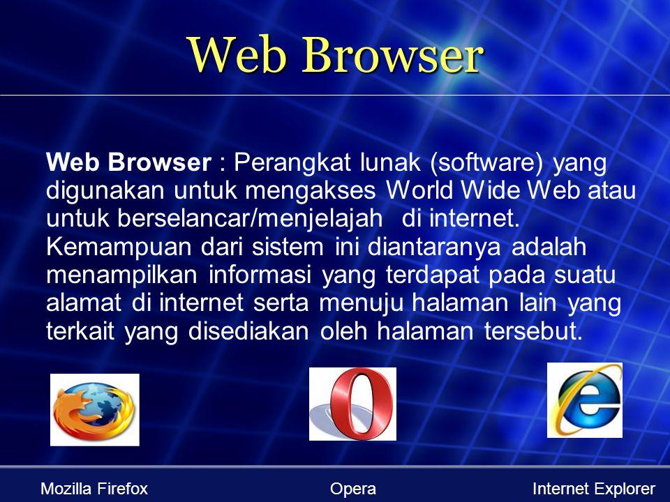 WWW (World Wide Web) WWW Adalah fasilitas internet yang menghubungkan dokumen dalam lingkup lokal maupun jarak jauh. Dokumen Web disebut Web Page dan