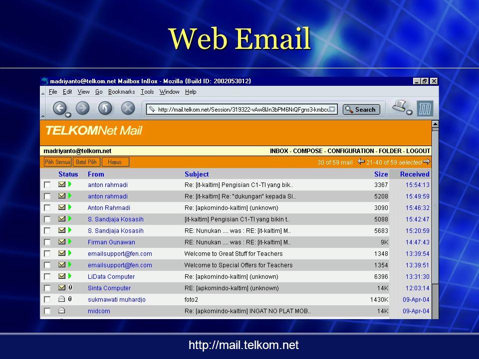 Program E-mail Client Tombol Interaksi Informasi/ Pesan Organizer Window