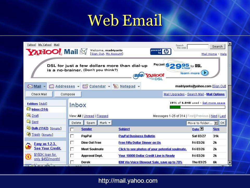 Web Email http://mail.telkom.net