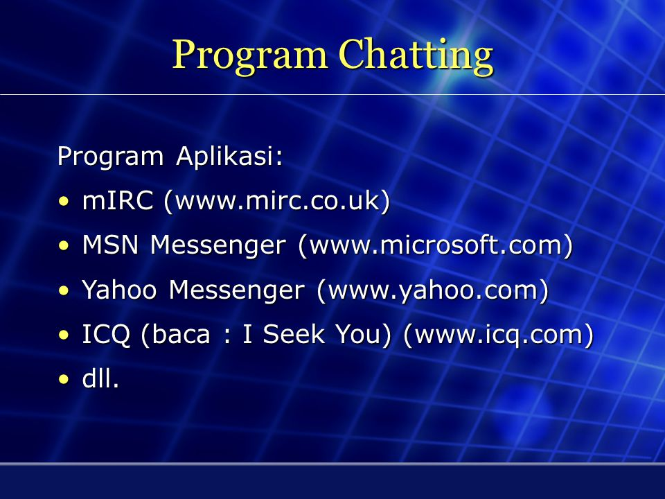 Program Chatting MSN Messenger