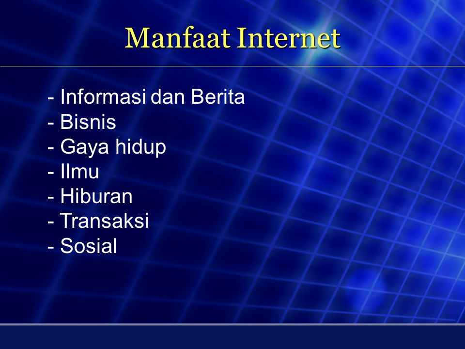 Pertumbuhan Pengguna Internet di Dunia