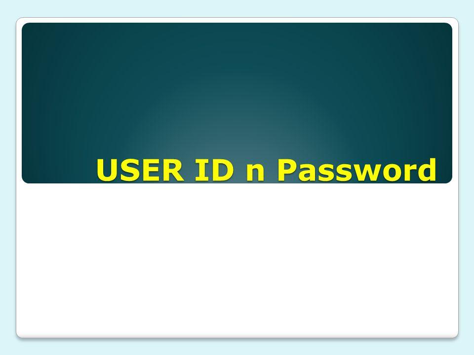 USER ID n Password