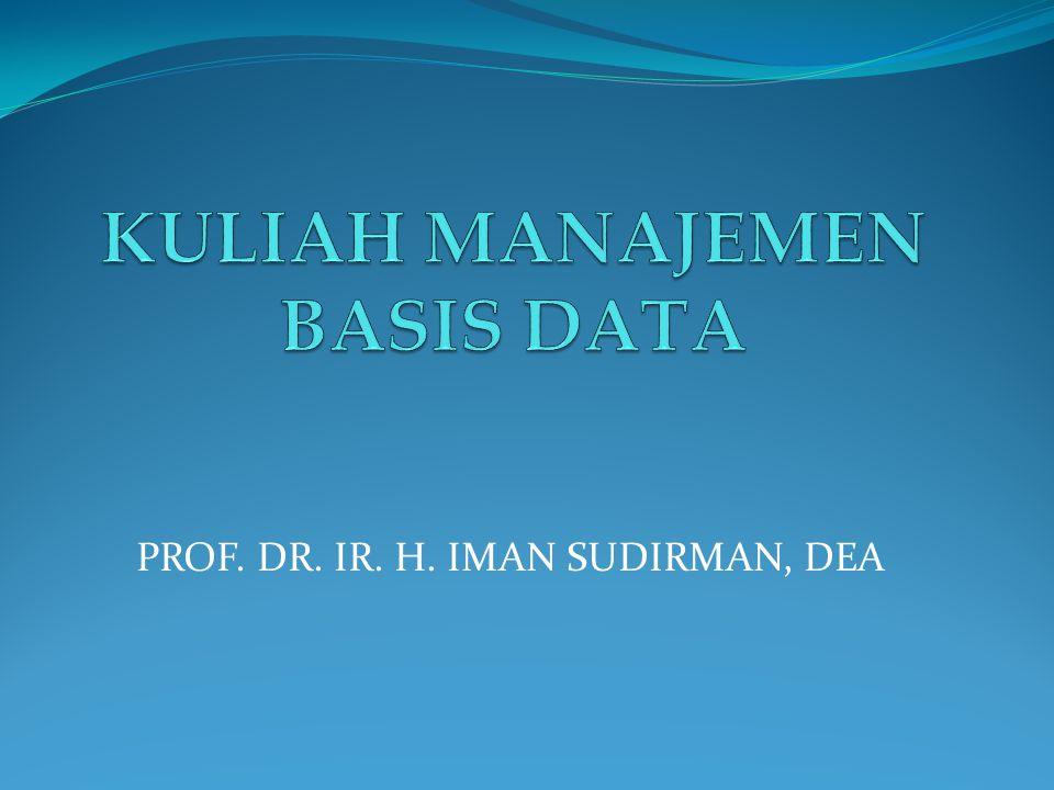 PROF. DR. IR. H. IMAN SUDIRMAN, DEA