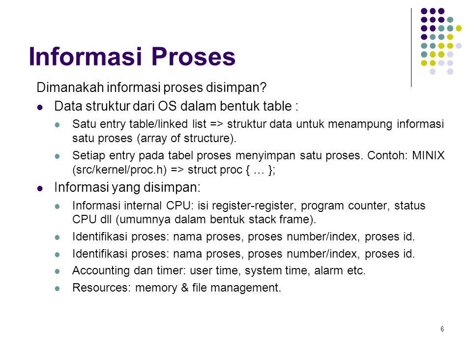 6 Informasi Proses Dimanakah informasi proses disimpan.