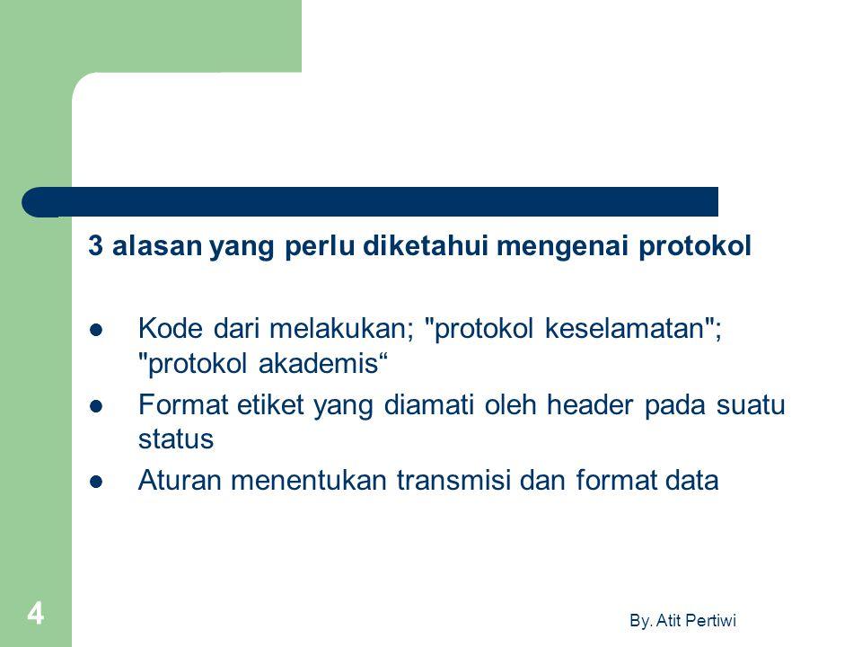 By. Atit Pertiwi 4 3 alasan yang perlu diketahui mengenai protokol Kode dari melakukan;