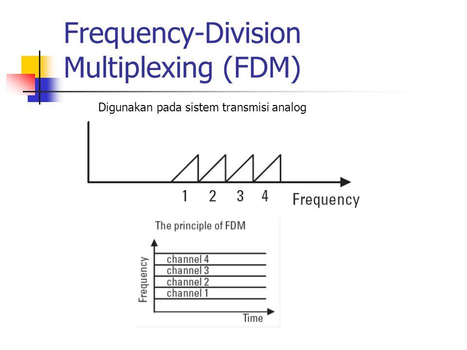 Frequency-Division Multiplexing (FDM) Digunakan pada sistem transmisi analog