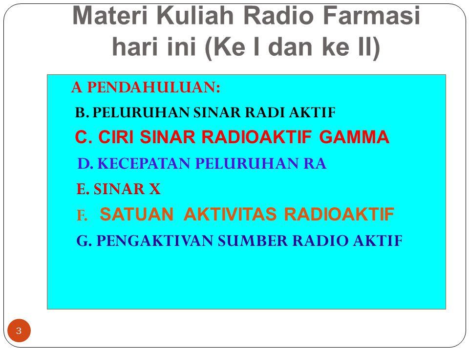 Materi Kuliah Radio Farmasi hari ini (Ke I dan ke II) 3
