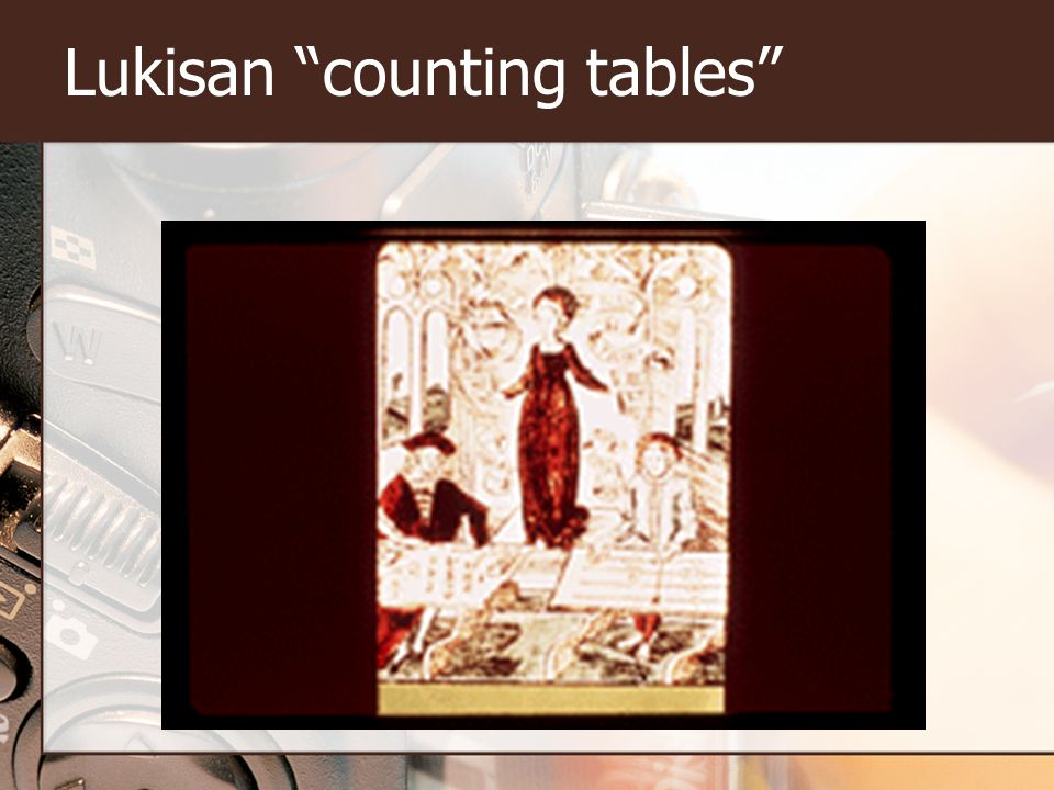 "Lukisan ""counting tables"""