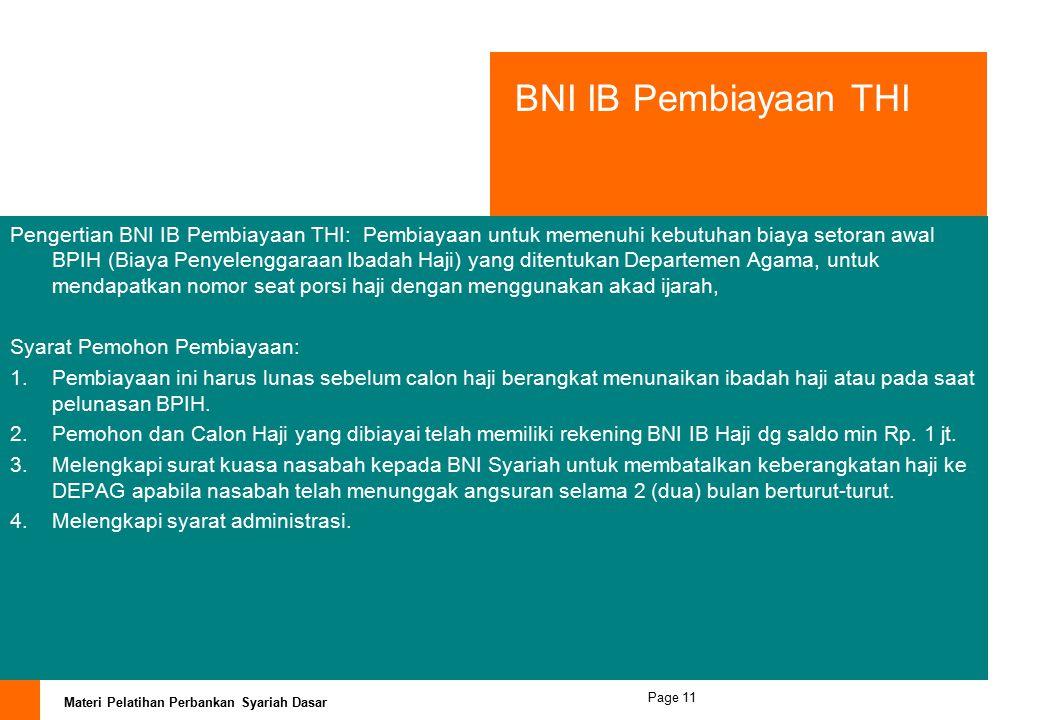 Materi Pelatihan Perbankan Syariah Dasar Page 10 PEMBIAYAAN KONSUMTIF