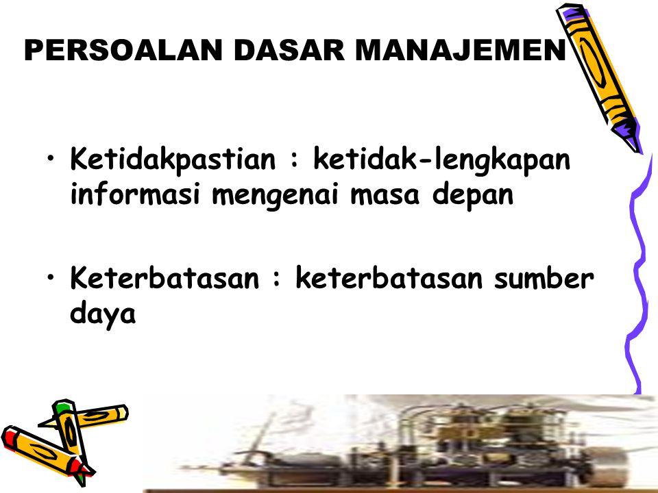 MANAGERIAL PERFORMANCE (DRUCKER) EFICIENCY : hubungan input-output  menghasilkan dengan sumber- sumber yang ekonomis (doing thing right) EFECTIVENESS