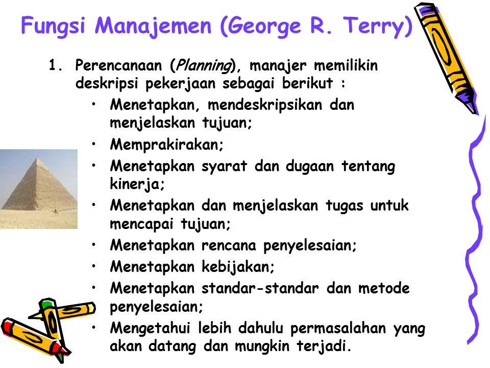 Tingkatan Manajemen Board of Director Top Manager Middle Manager First Line Manager Non Manager President Departement Superintendent General Foremant