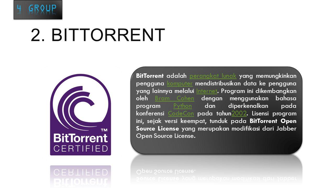 CARA KERJA Cara Kerja Bit Torrent dimulai dari pengelompokan sebuah file menjadi potongan- potongan kecil, seseorang yang mulai men-share file atau dengan istilah initial seed mengirim potongan-potongan kecil ke peers yg tersedia pada swarm.
