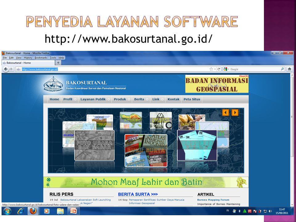 http://www.bakosurtanal.go.id/