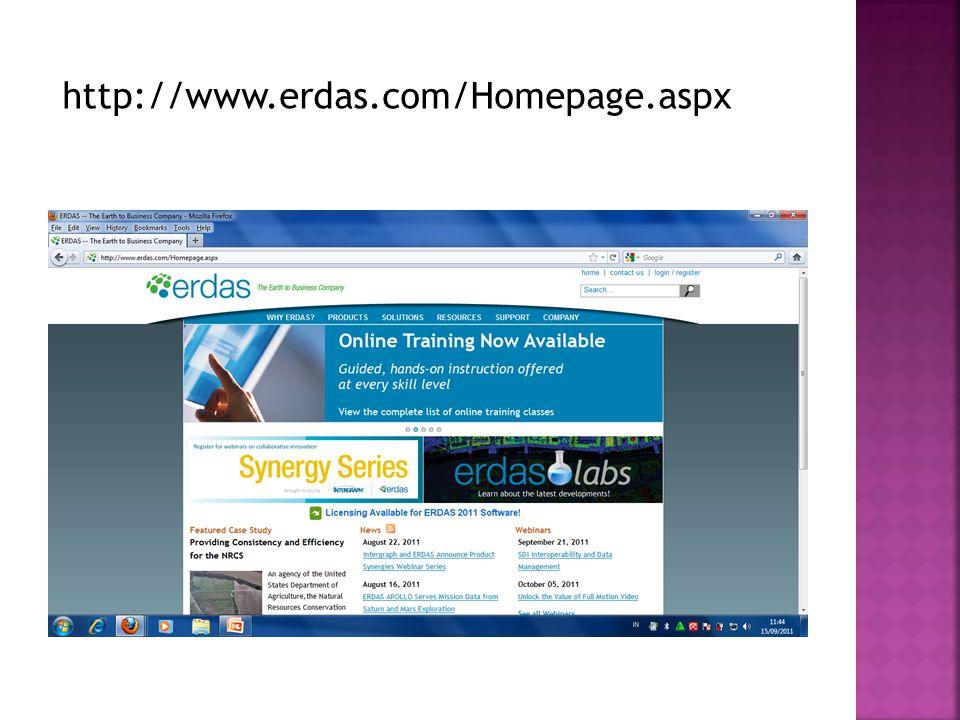 http://www.erdas.com/Homepage.aspx