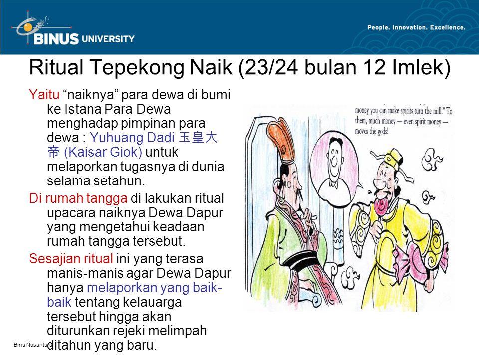 """Bina Nusantara Ritual Tepekong Naik (23/24 bulan 12 Imlek) Yaitu """"naiknya"""" para dewa di bumi ke Istana Para Dewa menghadap pimpinan para dewa : Yuhuan"""