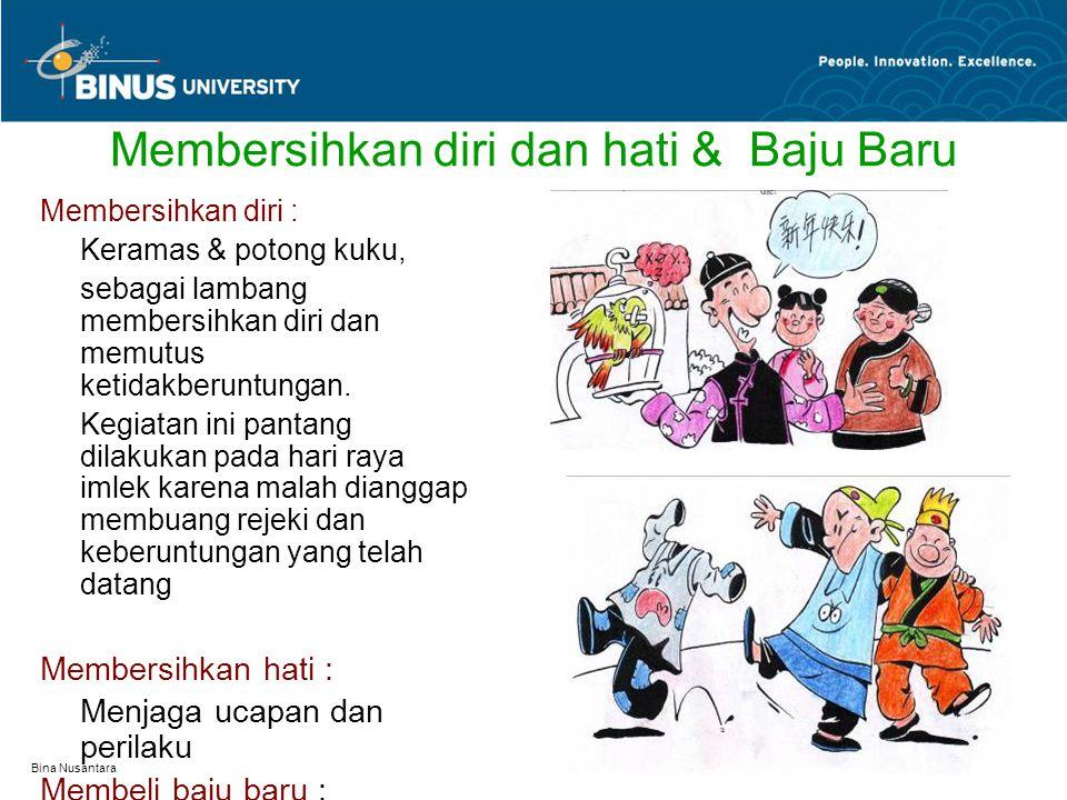 Bina Nusantara Membersihkan diri dan hati & Baju Baru Membersihkan diri : Keramas & potong kuku, sebagai lambang membersihkan diri dan memutus ketidak