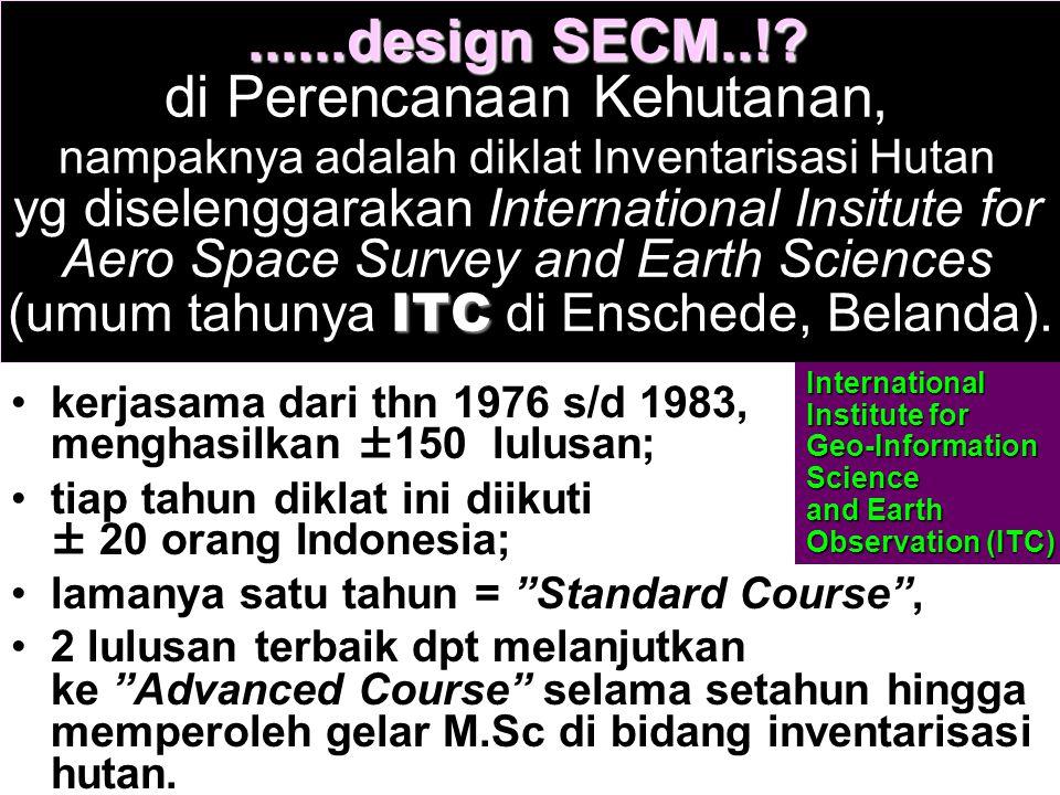 ......design SECM..!? ITC......design SECM..!? di Perencanaan Kehutanan, nampaknya adalah diklat Inventarisasi Hutan yg diselenggarakan International