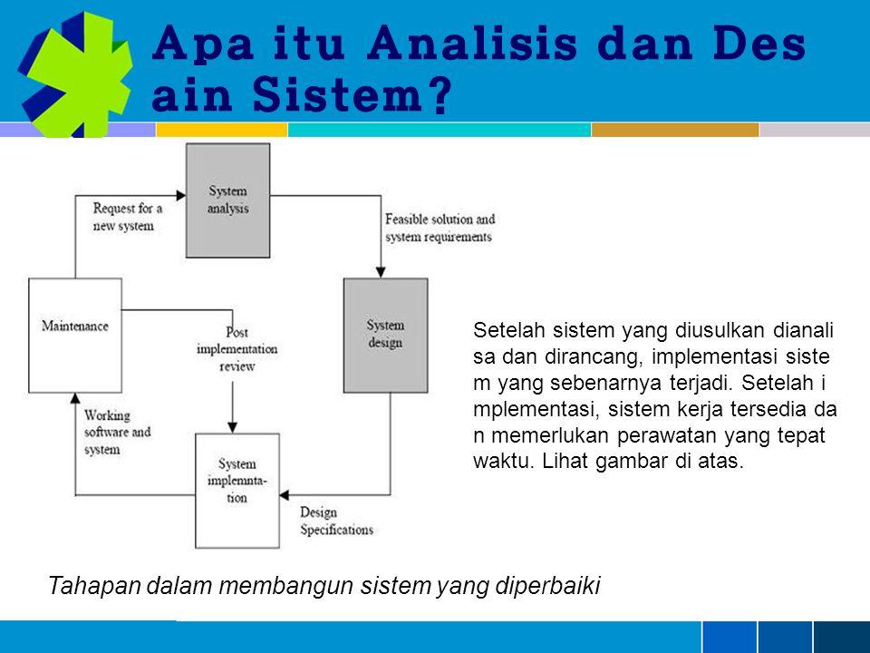 Apa itu Analisis dan Des ain Sistem.